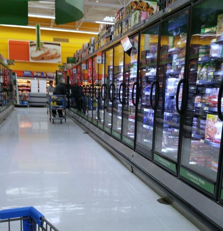 walmart freezer section