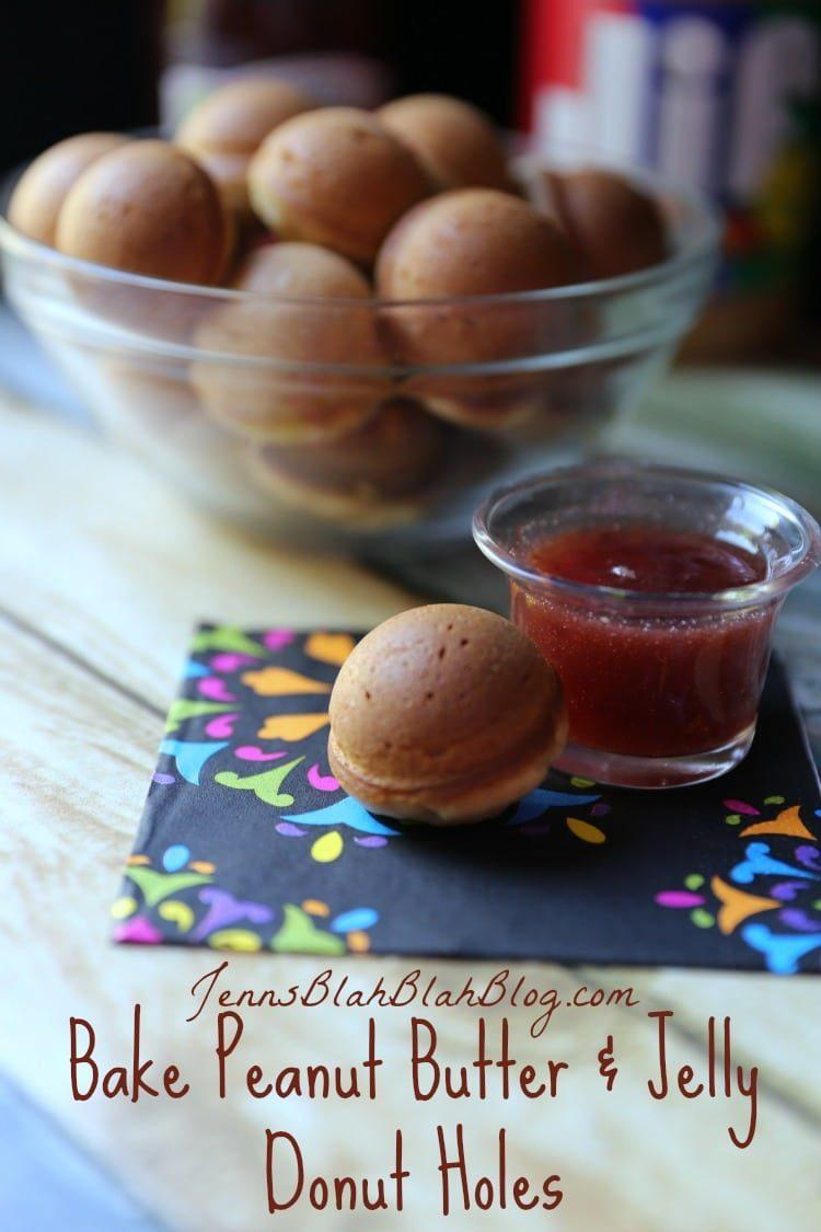 Bake Peanut Butter & Jelly Donut Holes