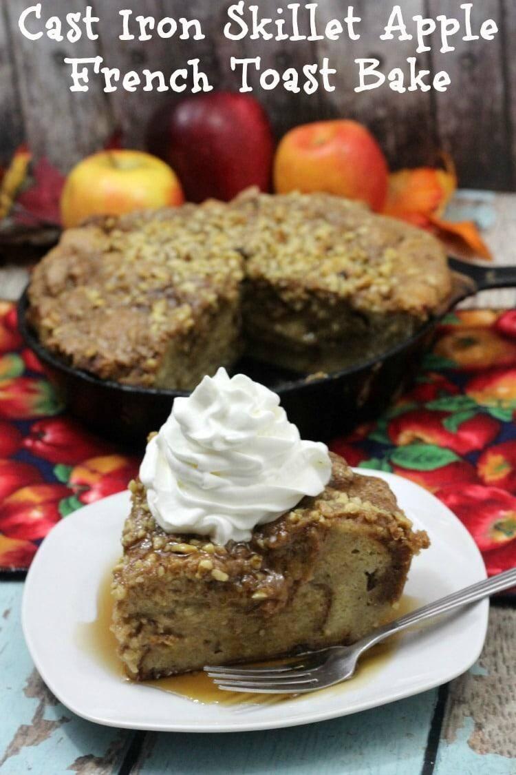 Cast Iron Skillet Apple French Toast Bake Recipe