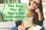 The Easy Way to Apply for Scholarships