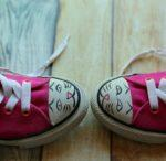 DIY Painted Kitty Face Shoes Project + 8 Fun Facts About Cats