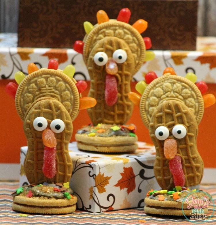 Cute but Nutty Thanksgiving Turkey Cookies Recipe