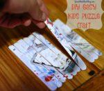 Kids Crafts | How To Make a Kids Popsicle Stick Puzzle