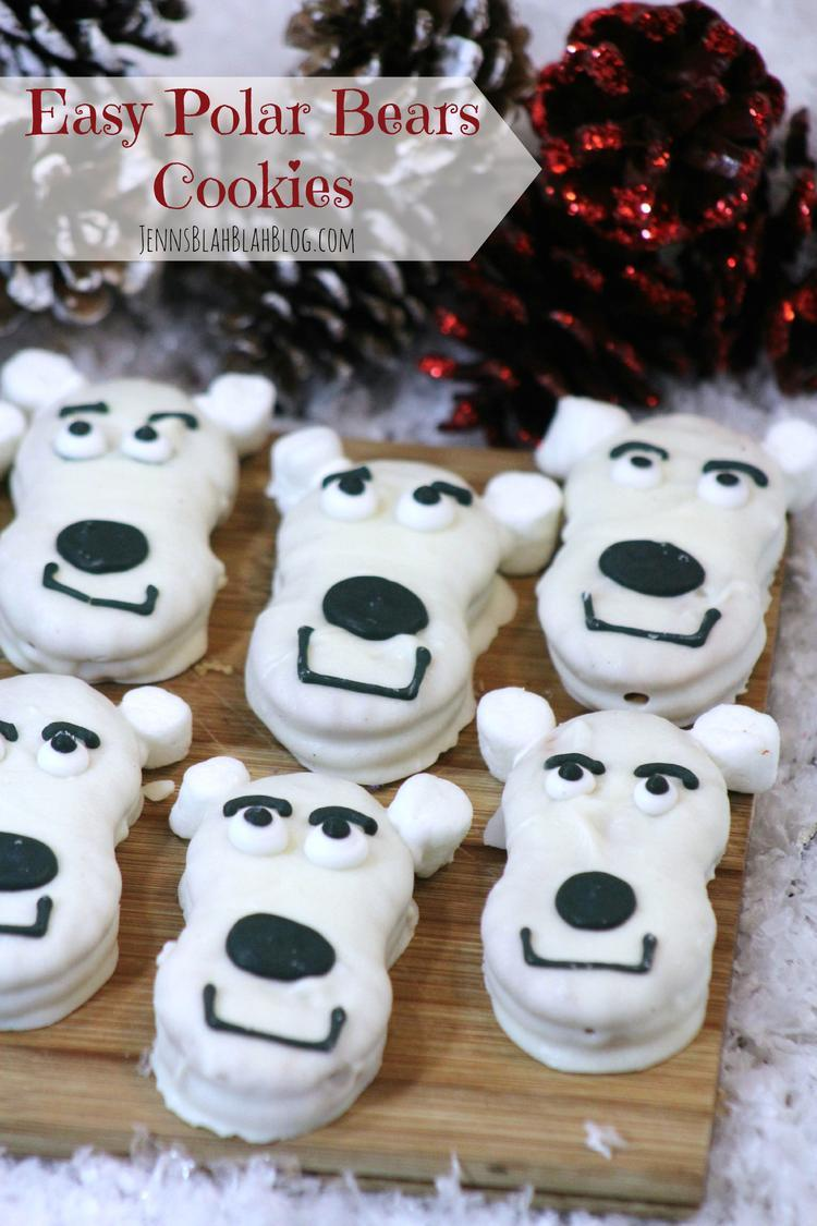 Cute White Chocolate Covered Polar Bear Cookies!