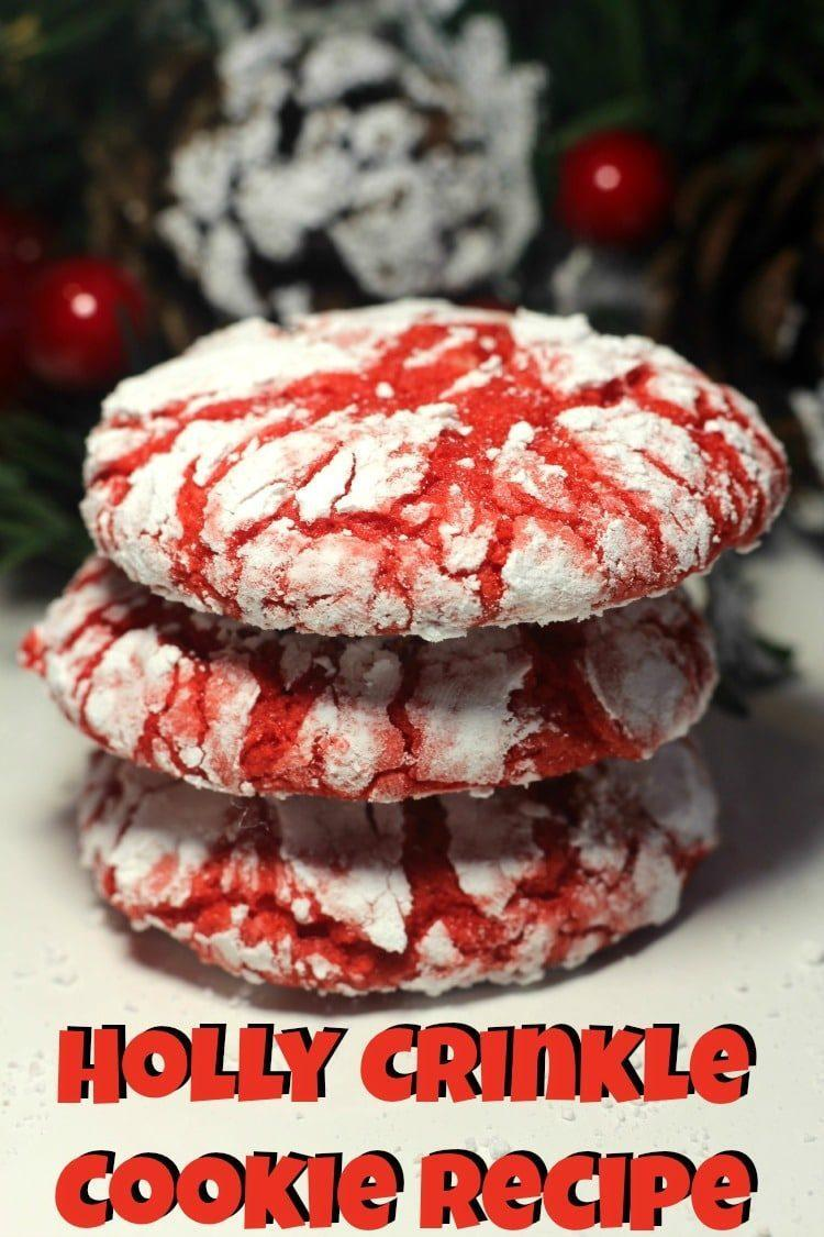 Holly Crinkle Cookie Recipe