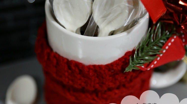 DIY White Chocolate Spoons & Coffee Mug Gift Idea