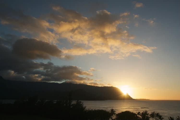 Sunset Over Hawaii