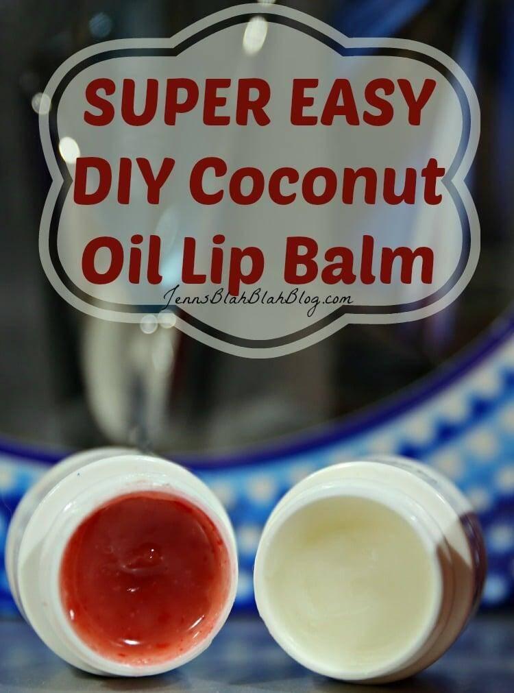 Super Easy DIY Coconut Oil Lip Balm