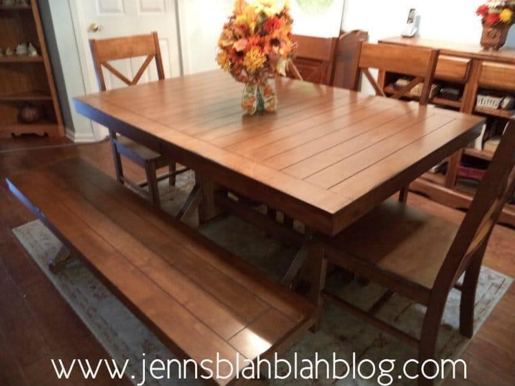 Win A Walker Edison Millwright 6 Pc Wood Dining Set In Antique Brown Giveaway Jenns Blah Blah