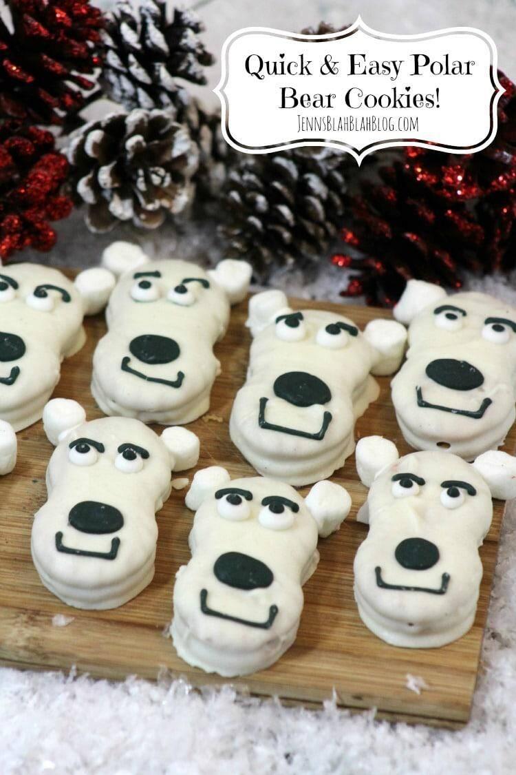 Easy Polar Bears Cookies | www.jennsblahblahblog.com | @jenblahblahblog