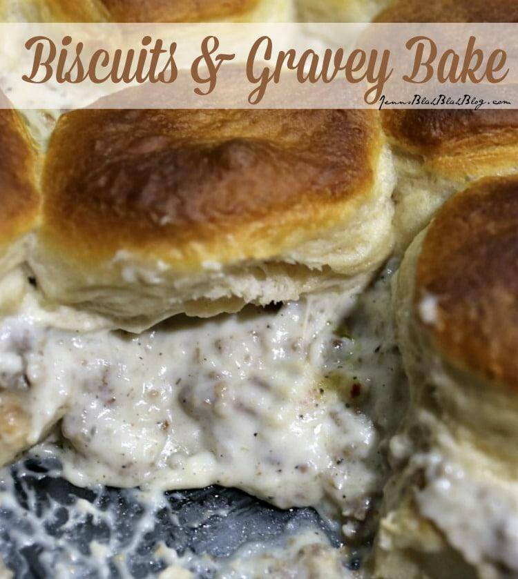Biscuits and Sausage Gravy Casserole