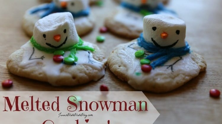 Melted Snowman Christmas Cookiesc