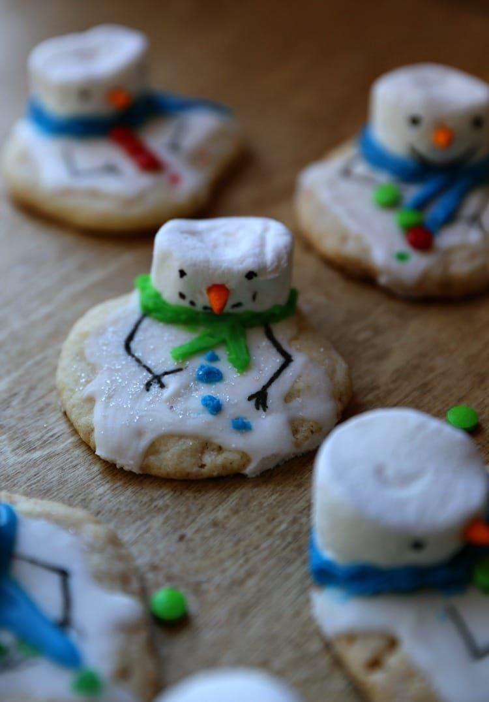 Melting Snowman Chewy Sugar Christmas Cookie Recipe Yummy!