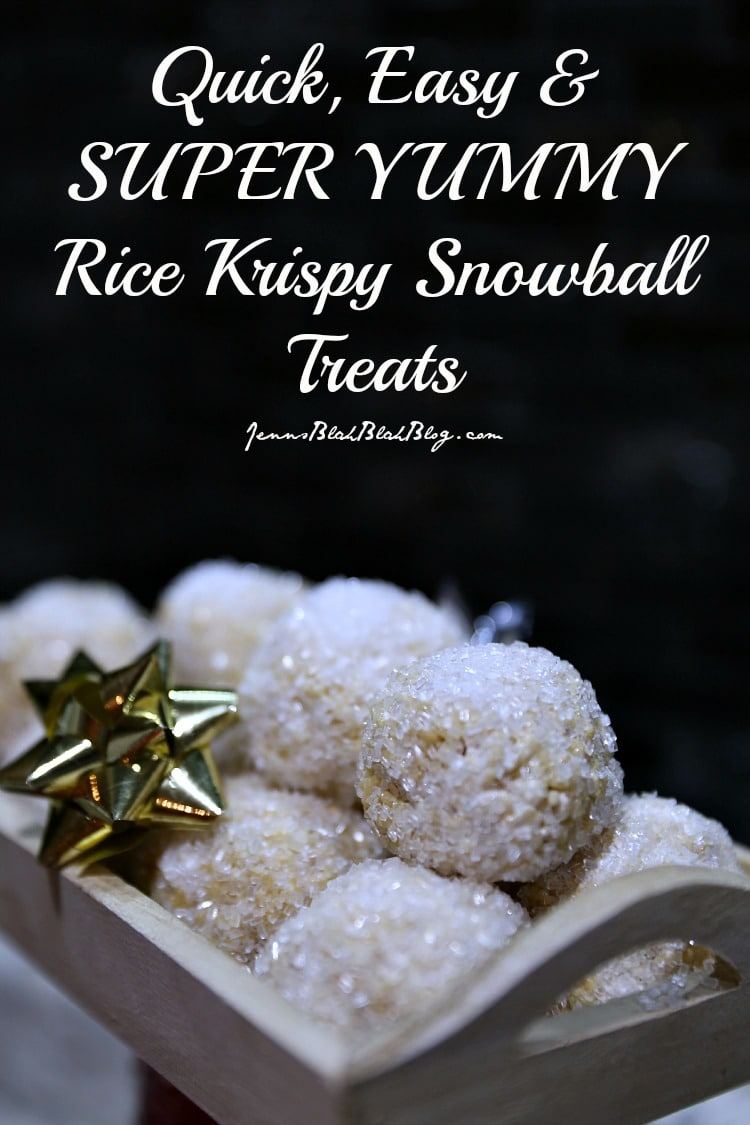 YUMMY Rice Krispy Snowballs!