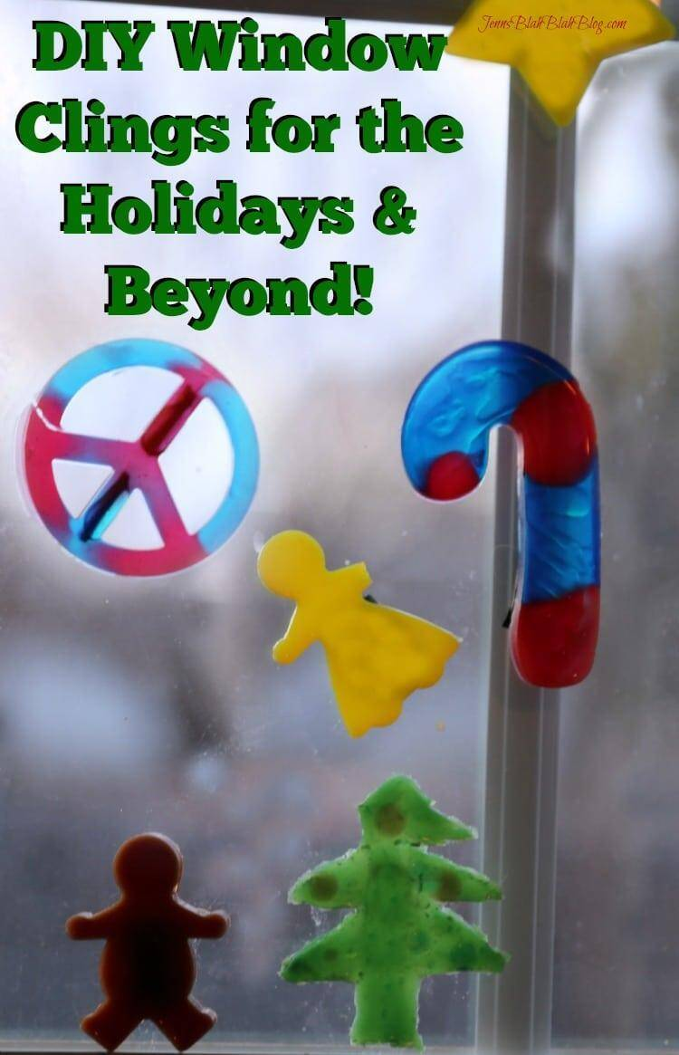 DIY Window Clings! A great Christmas Craft with the kids