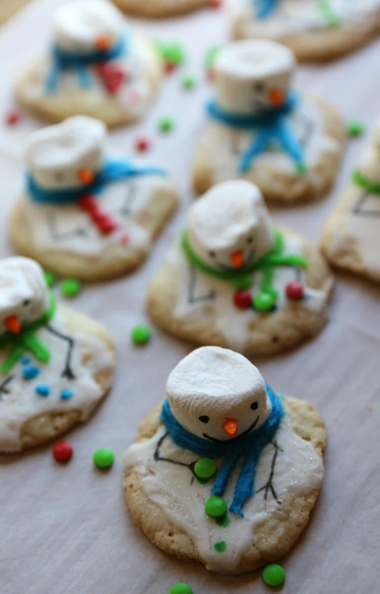 Melted Snowman Chewy Sugar Christmas Cookies