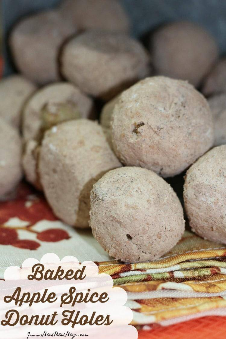 Baked Apple Spice Donut Holes