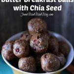 Chocolate Peanut Butter Breakfast Balls with Chia Seed