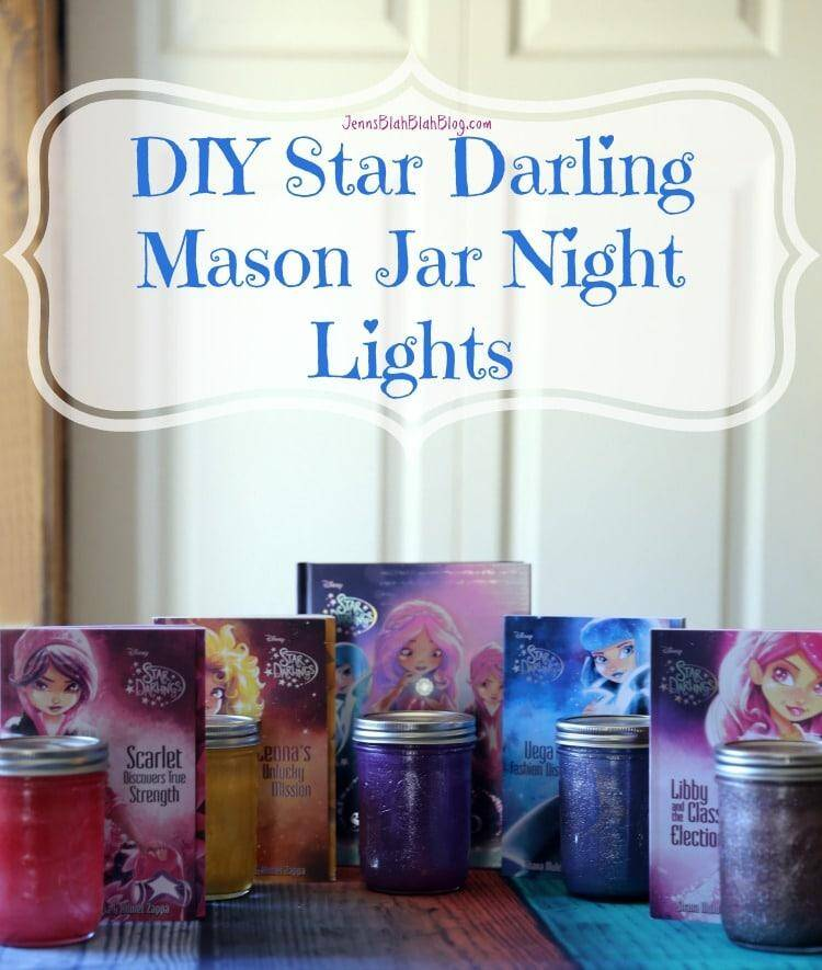 DIY Star Darling Mason Jar Night Lights for Kids