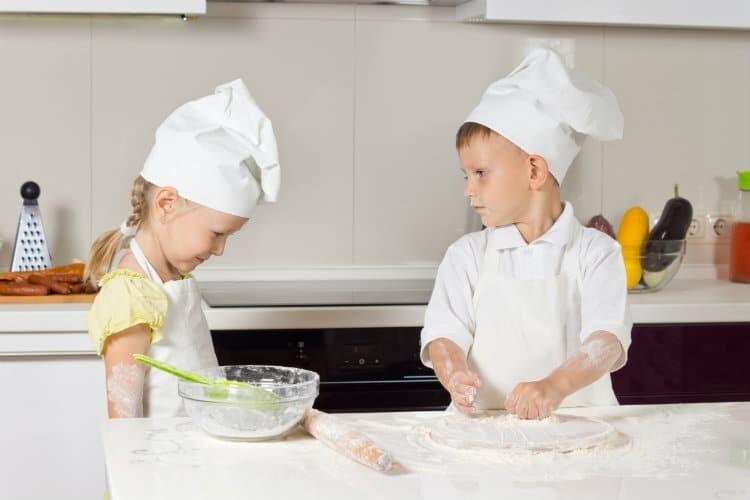 kids in cook uniform