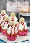 Strawberry and Banana Cupcakes Recipe for Valentine's Day