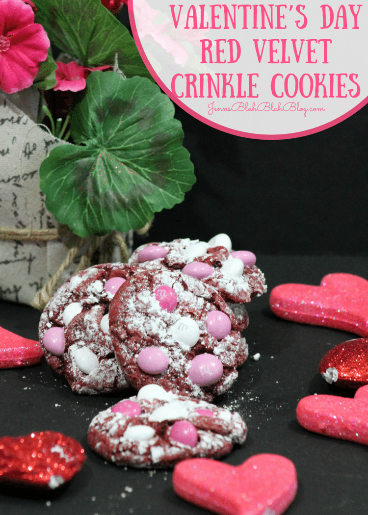 Yummy Valentine's Day Red Velvet Crinkle Cookies