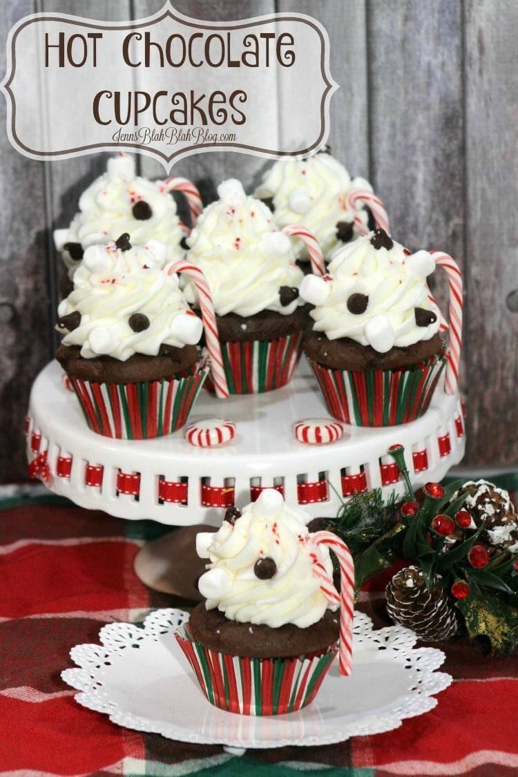 Homemade Hot Chocolate Cupcakes Recipe