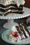 Layered Chocolate Cake with Sprinkles
