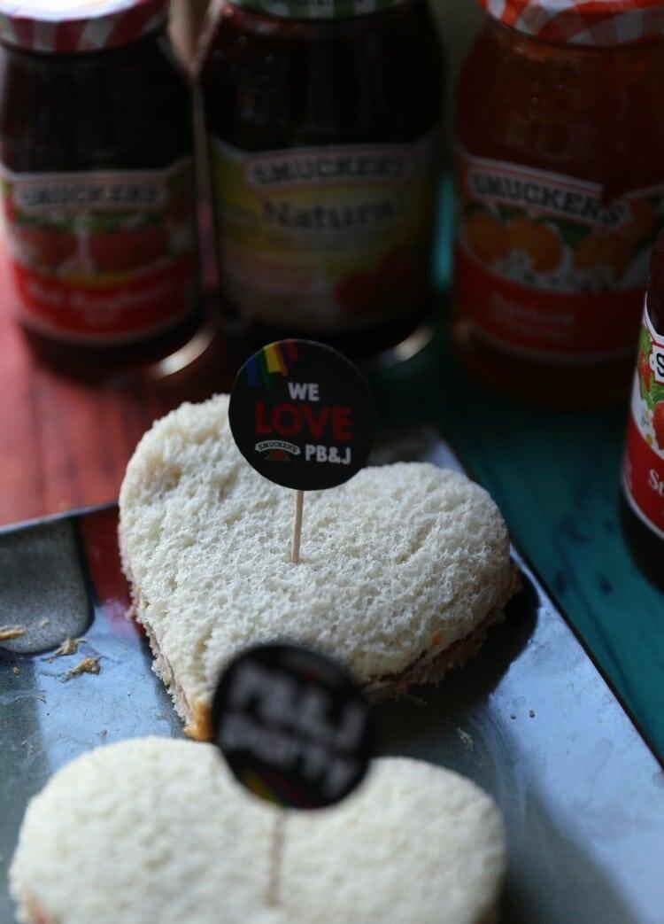 peanut butter jelly sandwich hearts