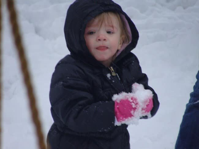 playing in snow (jenn worden0