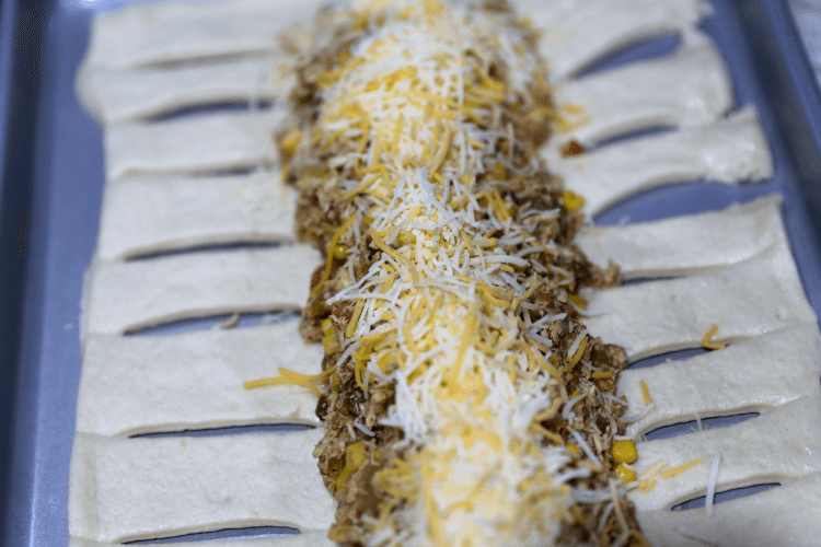 Chicken Taco with green chili and cheese