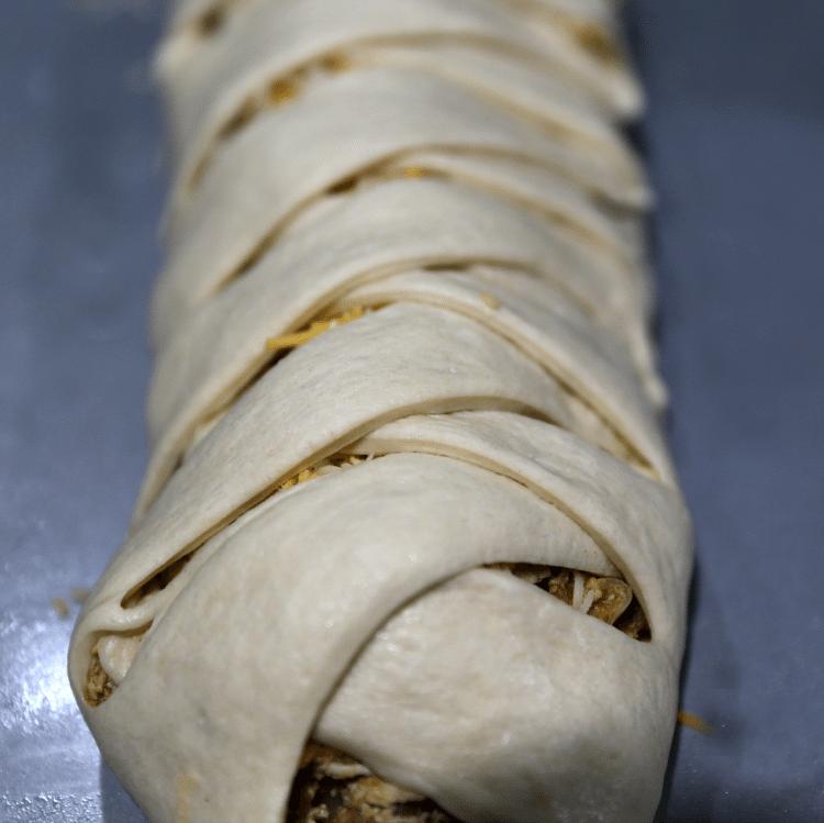 Chicken taco braid