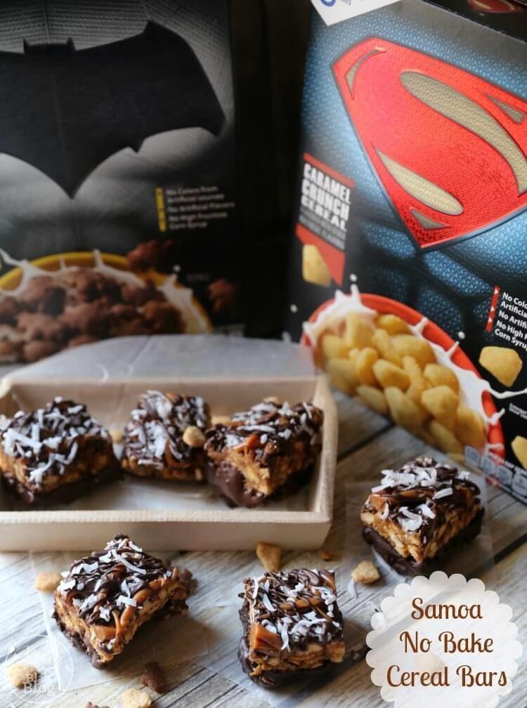 Samoa No Bake Cereal Bars