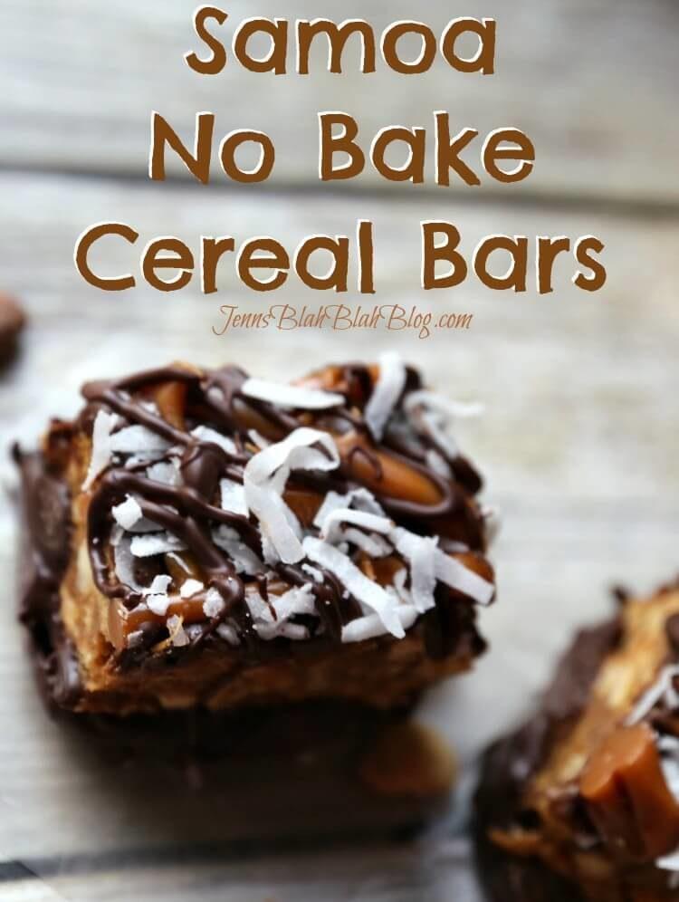 Samoa No Bake Cereal Bars Recipe