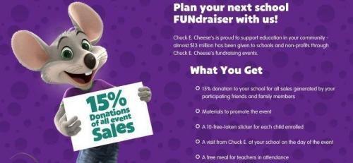 Chuck E Cheese Fundraising