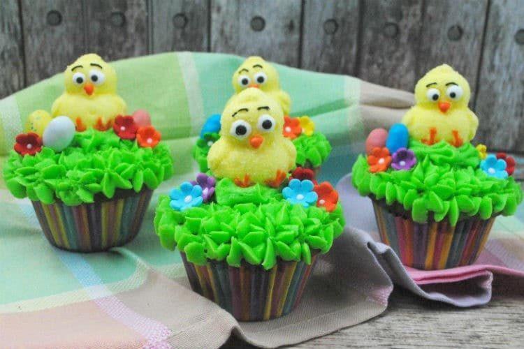 Cute Easter Ducky Cupcake Recipe