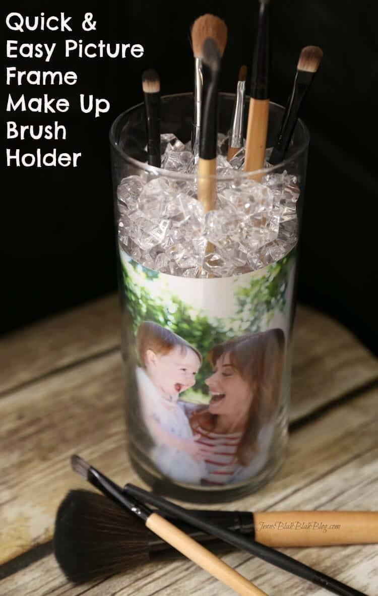 DIY Photo Frame Makeup Brush Holder