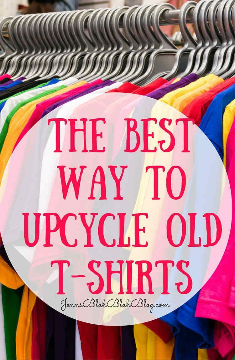 The Best Way To Upcycle Old T-Shirts