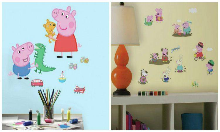 peppa wall decal collage
