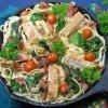 Rustic Chicken & Spinach Alfredo Pasta Recipe