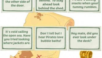 Pirate's Booty Treasure Hunt Clue Sheet Printable