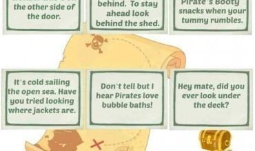 Pirate's Booty Treasure Hunt Clue Sheet Printable