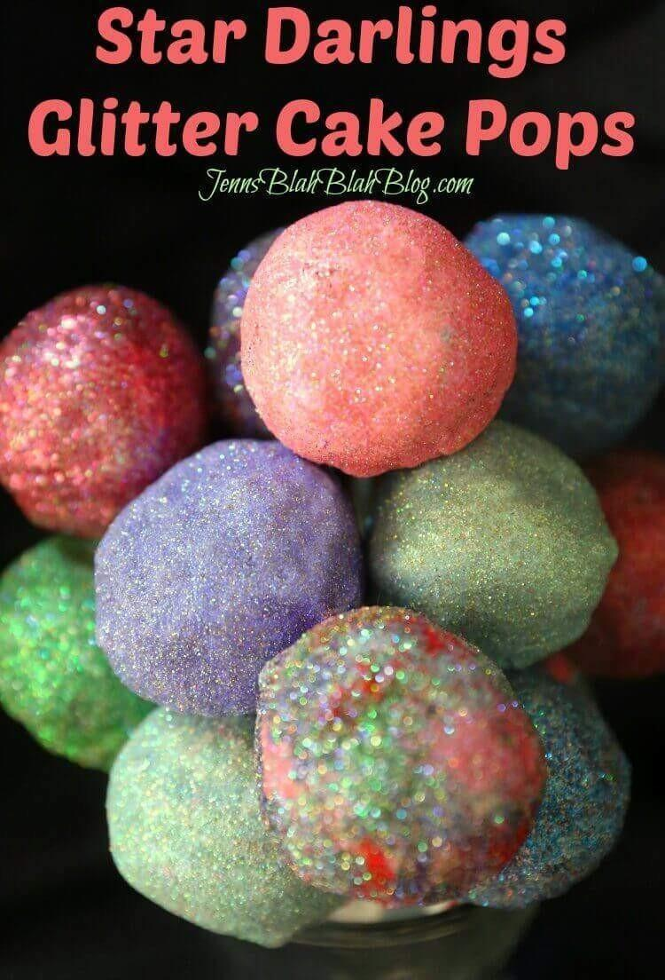 Star Darlings Glitter Cake Pops