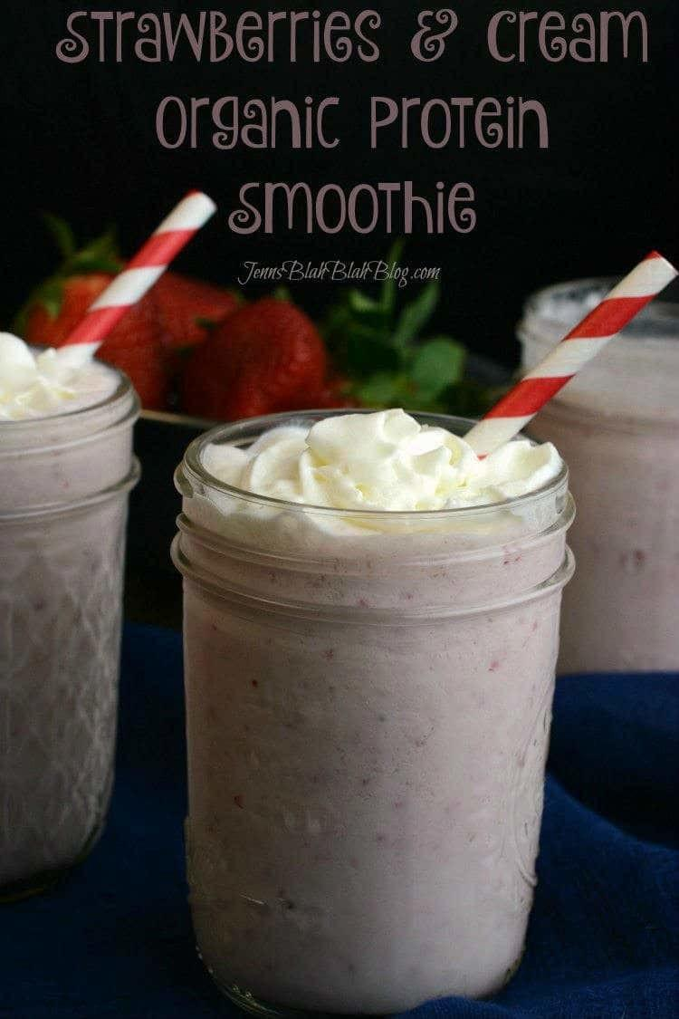 Strawberries & Cream Organic Protein Smoothie Recipe