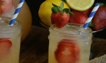 Strawberry Limeade Recipe + Teach Kids Hard Work Pays Off