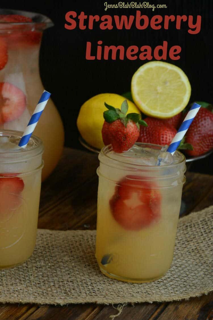 Strawberry Limeade Recipe + Teach Kids Hard Work Pays Off