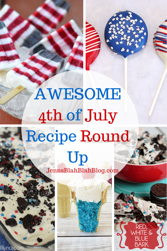Red White & Blue 4th of July Recipes