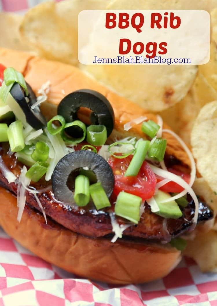Grilled BBQ Ribs Dogs Recipe