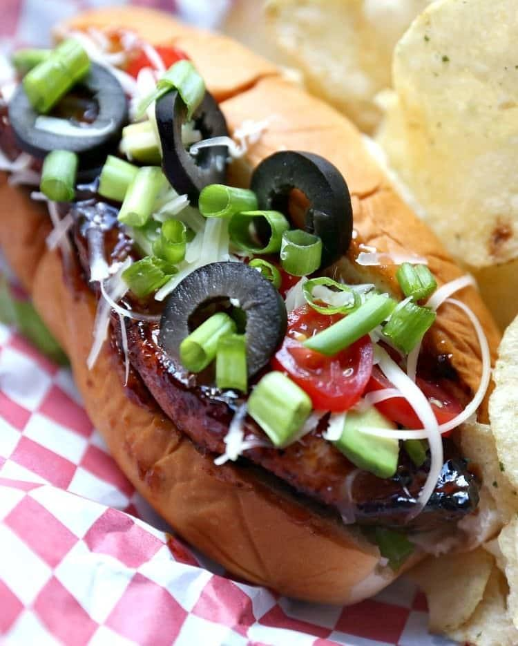 """Grilled BBQ Country Style Rib """"Dogs"""""""
