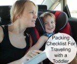 Road Trip with a Toddler? You Better Start Your Packing List
